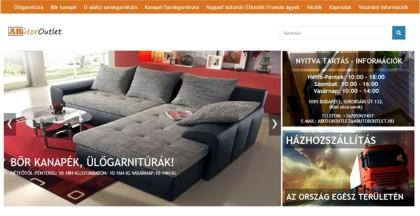 ABútor Outlet áruház honlaprészlet, kanapé.